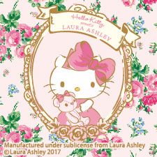 HELLO KITTY meets LAURA ASHLEY<br>MY MELODY meets LAURA ASHLEY