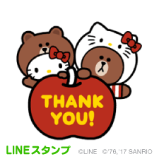 【LINEスタンプ】LINE FRIENDS & HELLO KITTY ※有料