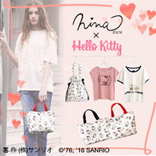 Nina mew × ハローキティ「Hello Kitty Collection」が新登場♪